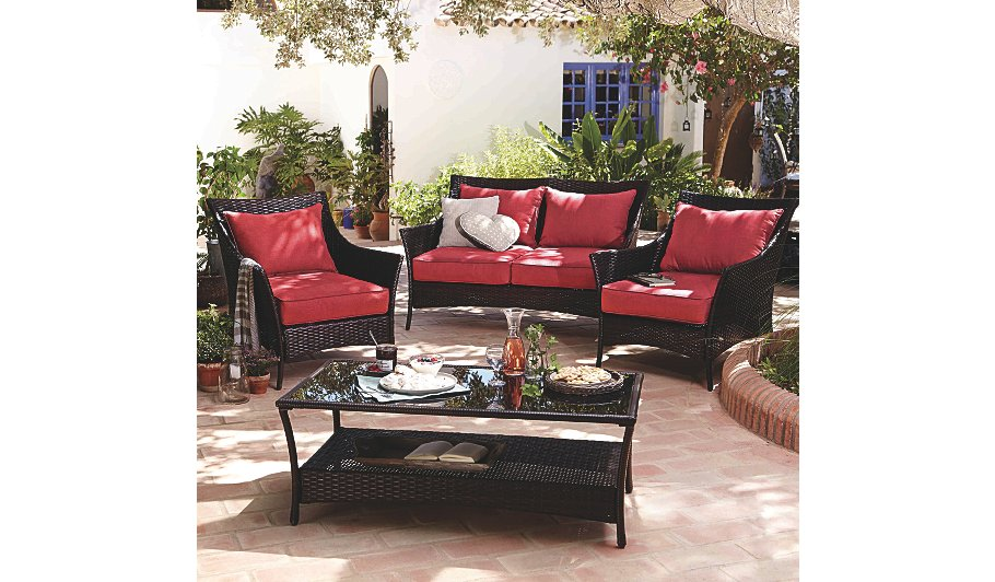 Jakarta 4 Piece Classic Conversation Sofa Set   Garden Furniture   George  at ASDA. Jakarta 4 Piece Classic Conversation Sofa Set   Garden Furniture