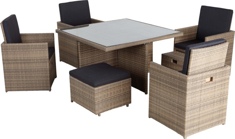 Borneo Garden Furniture Asda borneo 9 piece cube dining set | home & garden | george at asda