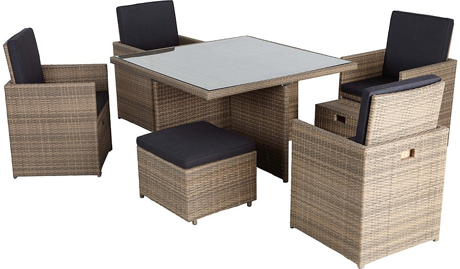 Borneo Piece Cube Dining Set Home Garden George At Asda