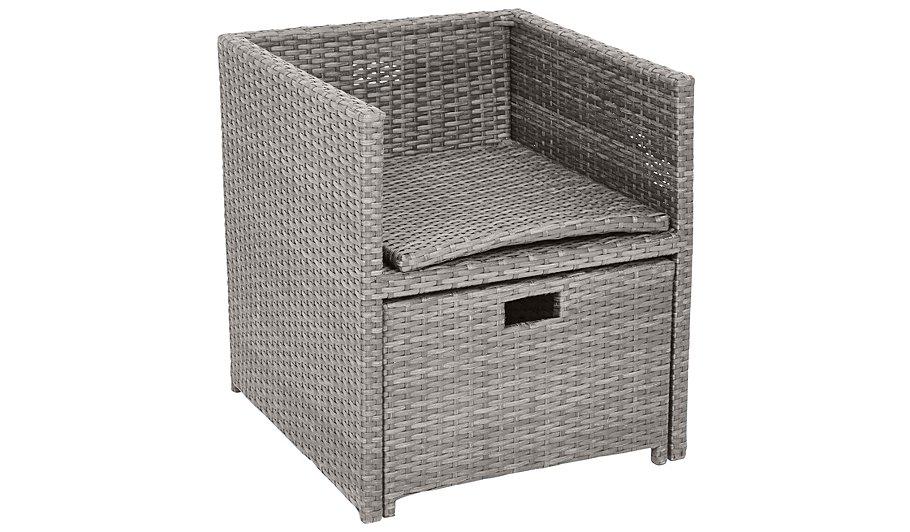 Borneo Cube Patio Dining Chair & Ottoman