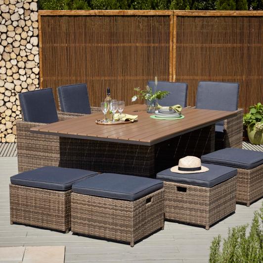 Borneo Garden Furniture Asda borneo 200 x 125cm dining table | garden furniture | george at asda