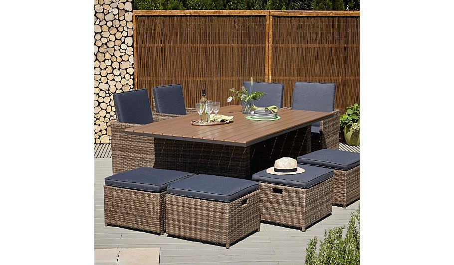 Borneo X Dining Table Garden Furniture George At Asda