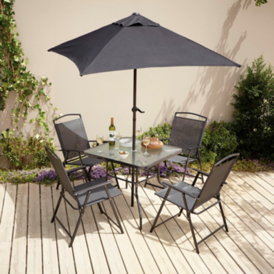 Delicieux Miami 6 Piece Patio Set   Charcoal