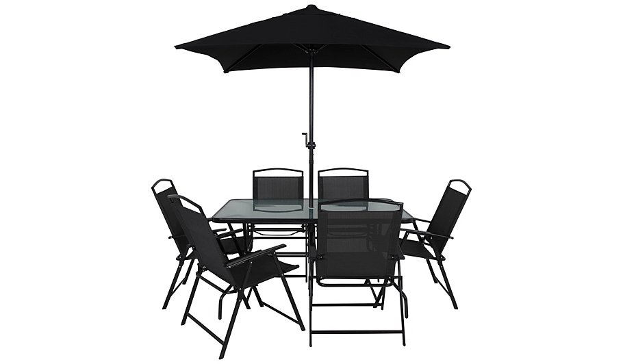 . Miami 8 Piece Bistro   Charcoal   Home   Garden   George at ASDA