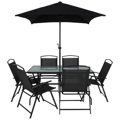 Miami 8 Piece Patio Set   Charcoal
