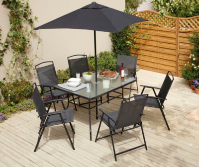 Wonderful Miami 8 Piece Patio Set   Charcoal.  Hide Details