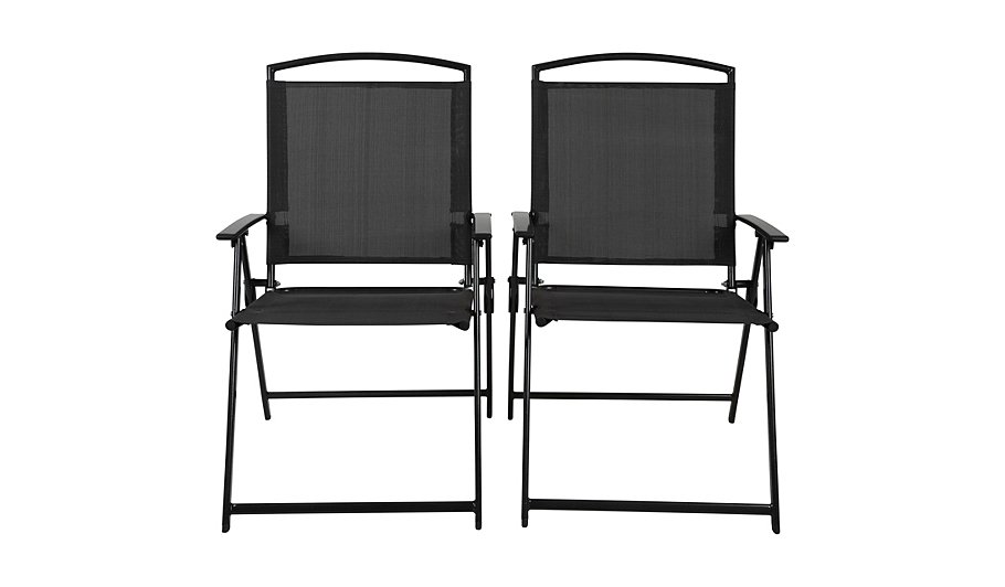 Miami 2 Pack Folding Chairs | Home & Garden | George at ASDA