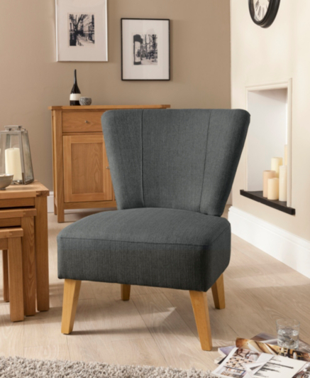 Cocktail Chair In Charcoal Home Amp Garden George At Asda