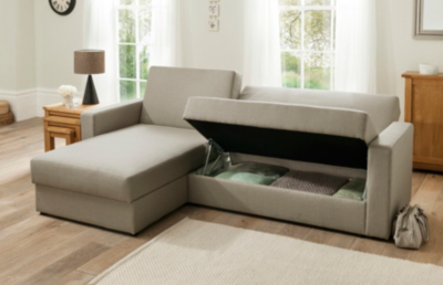 Chaise Sofabed With Storage In Various Colours