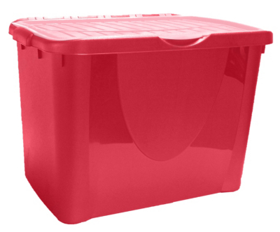 Attractive Food Storage Containers Asda Part - 5: ASDA Pink Flip Lid Box - 60L