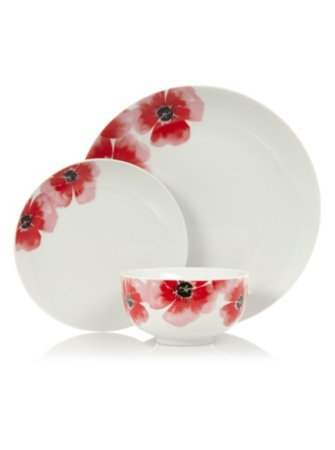George Home Poppy Tableware Range
