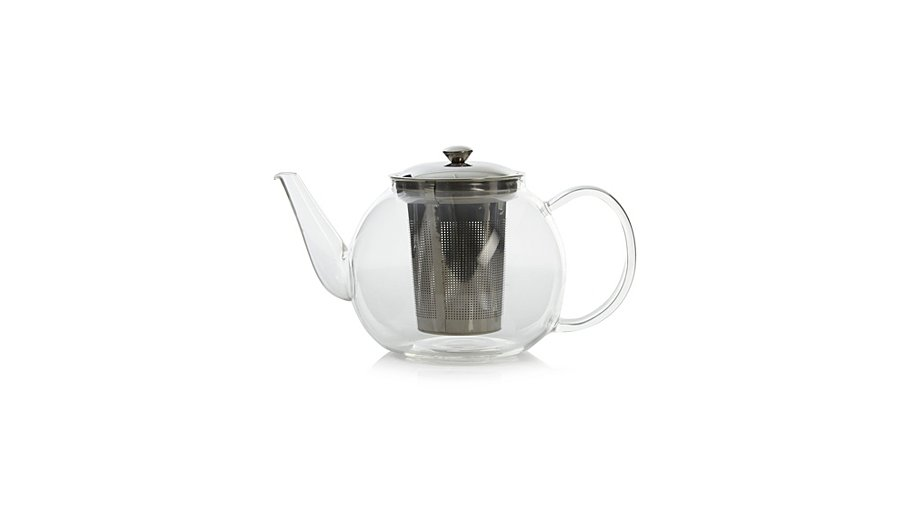 George home glass infuser teapot home garden george at asda - Tea pots with infuser ...