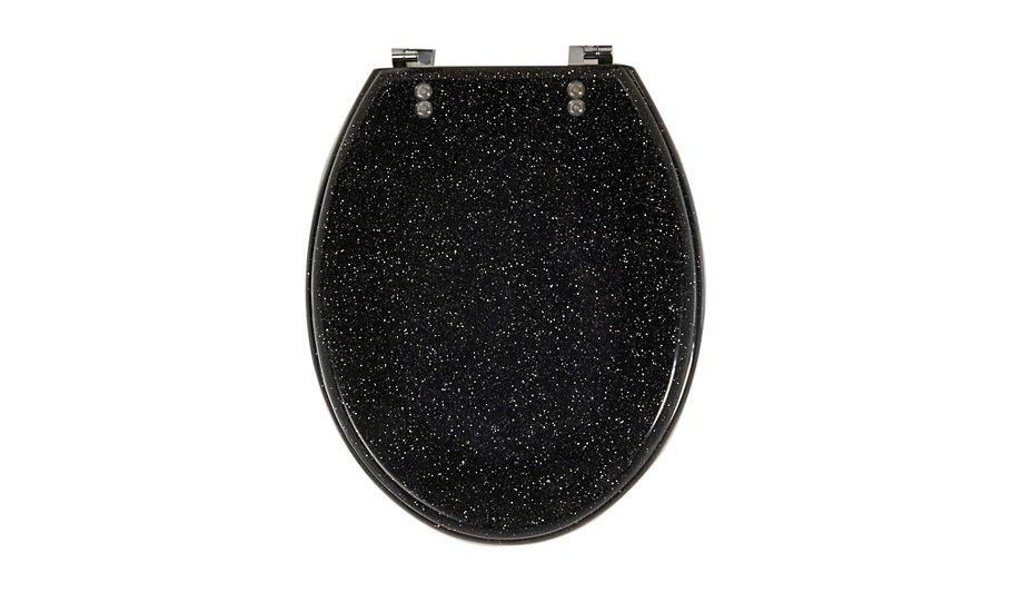 white sparkle toilet seat. Glitter Toilet Seat  Black George Home Garden