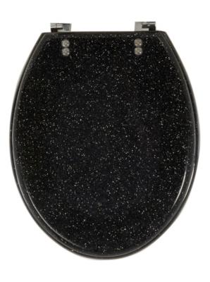 Glitter Toilet Seat   Black