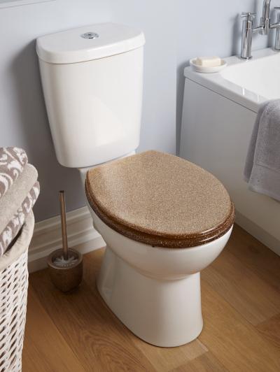 Gold Glitter Toilet Seat Glitter Toilet Seat GoldGeorge Home