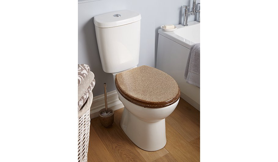 Glitter Toilet Seat  Gold George Home Garden at