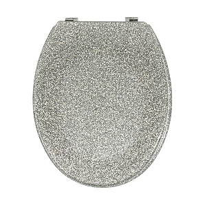 gold glitter toilet seat. George Home Glitter Toilet Seat  Silver Garden at ASDA