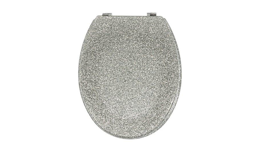 white sparkle toilet seat. Glitter Toilet Seat  Silver George Home Garden