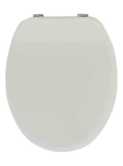 George Home Wood Toilet Seat White Home Garden George at ASDA