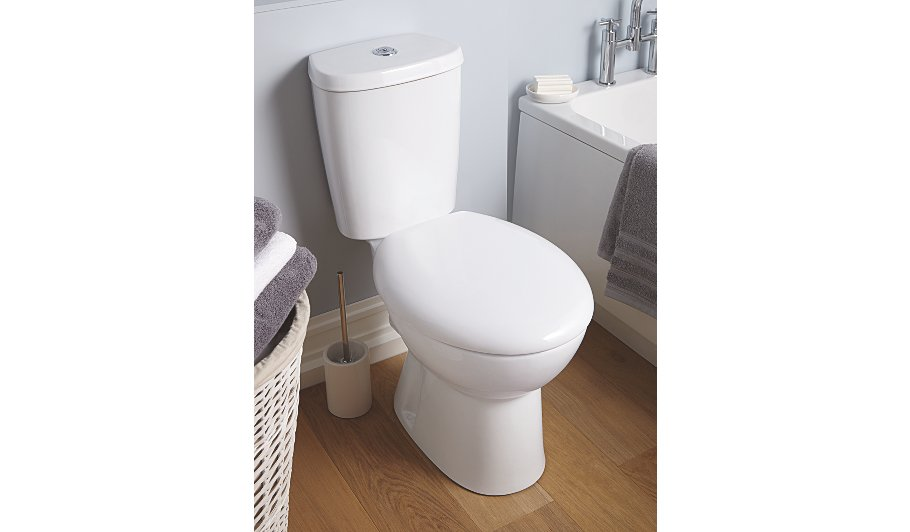 George Home Anti Bacterial Toilet Seat White Home