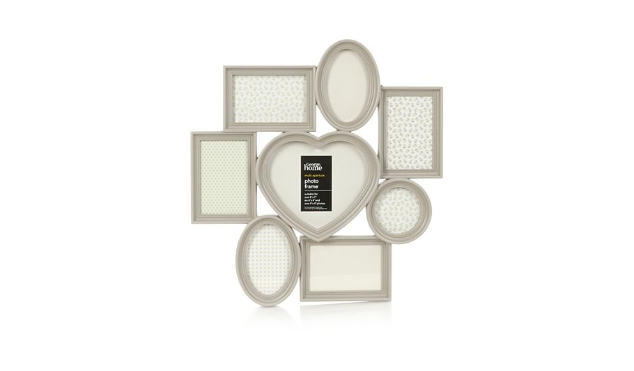 Multi Aperture Love Heart Photo Frame | Photo Frames | George at ASDA