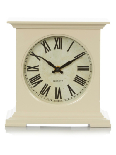 Cream box mantelpiece clock