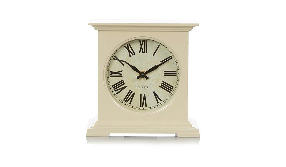 Cream box mantelpiece clock
