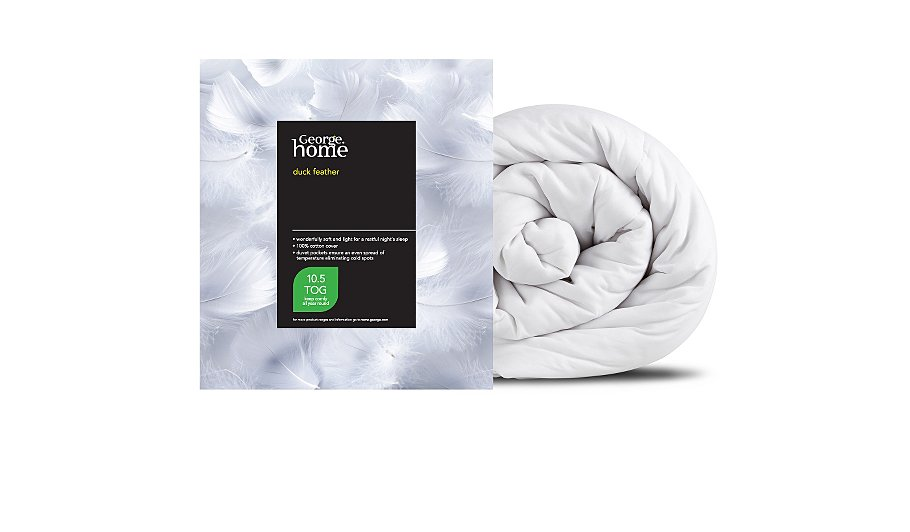 George Home 10 5 Tog Duck Feather Duvet Duvets Amp Pillows