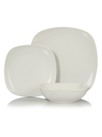 George Home White Square Tableware Range