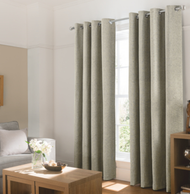 Textured Chenille Curtains   Natural