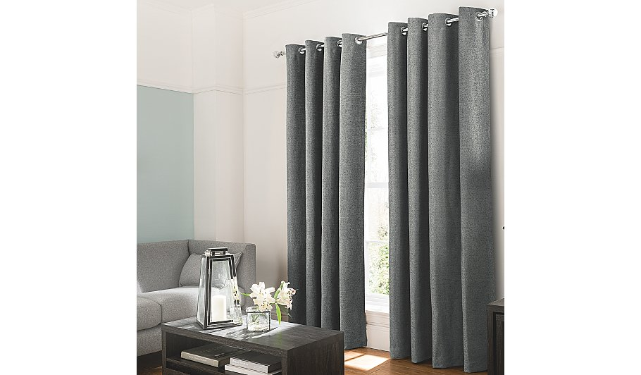 george home charcoal textured chenille curtains home