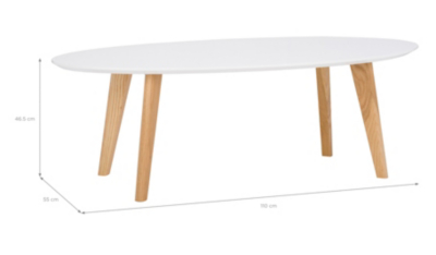 George Home Brooklyn Coffee Table Oak and White Home Garden