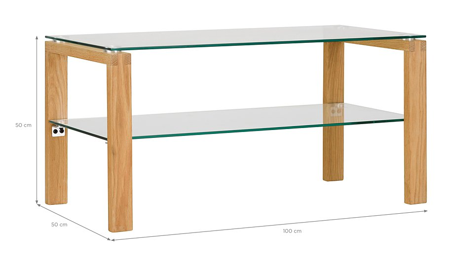 George Home Winston Coffee Table Oak And Glass Home Garden George At Asda