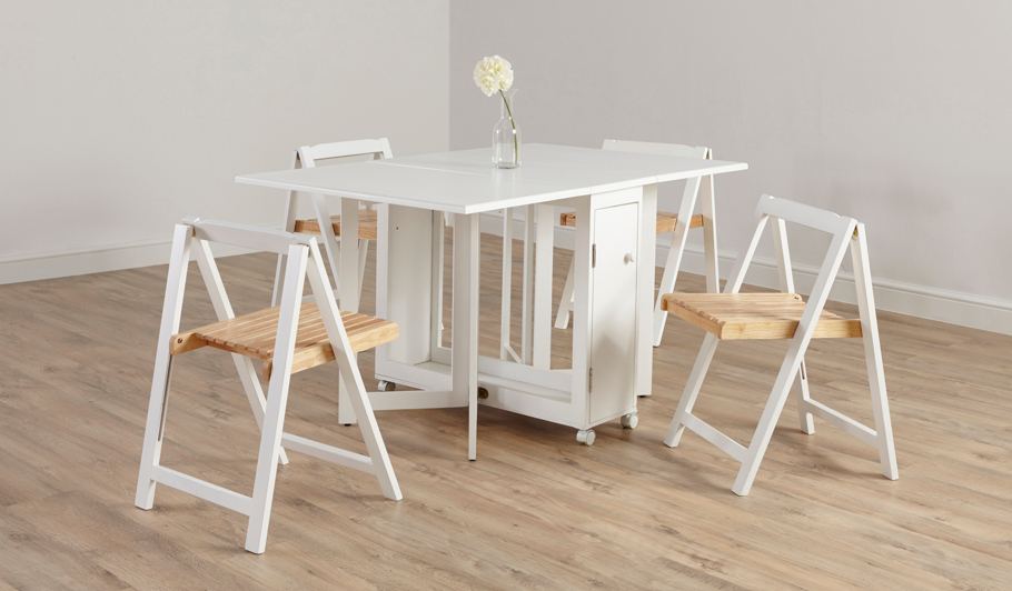 George Home Folding Compact Dining Table and 4 Chairs  : 5054070914236Dhei532ampwid910ampqlt85ampfmtpjpgampresmodesharpampopusm110 from direct.asda.com size 910 x 532 jpeg 66kB