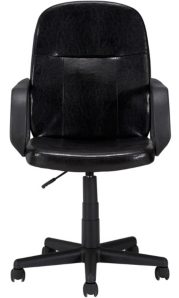 George Home Mid Back Executive fice Chair Black and Chrome Home Garden