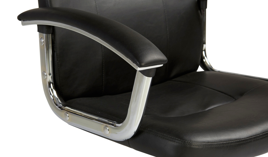 George Home Mid Back Executive fice Chair Black and Chrome