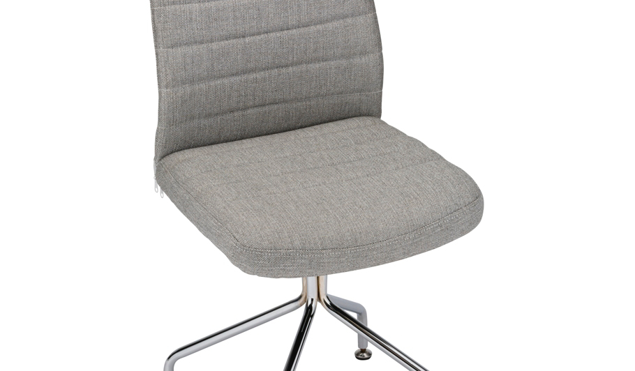 George Home Fabric fice Chair Grey