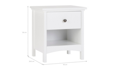 Charmant Tamsin Bedside Table   White.  Hide Details