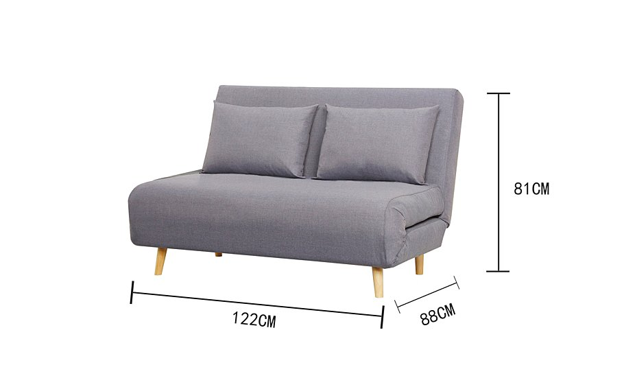 Small double sofa bed small sofa bed scott jordan for Wrap around sofa bed