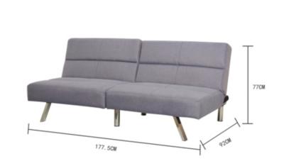 click clack sofa bed grey