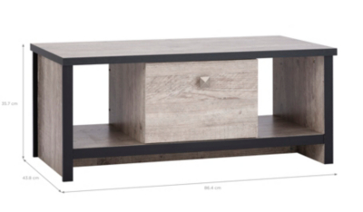 George Home Declan Coffee Table Distressed Pine Effect Home