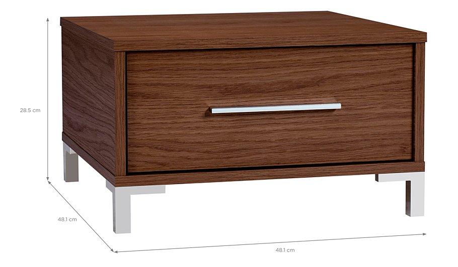 Walnut effect side table modern coffee tables and accent tables Walnut effect living room furniture