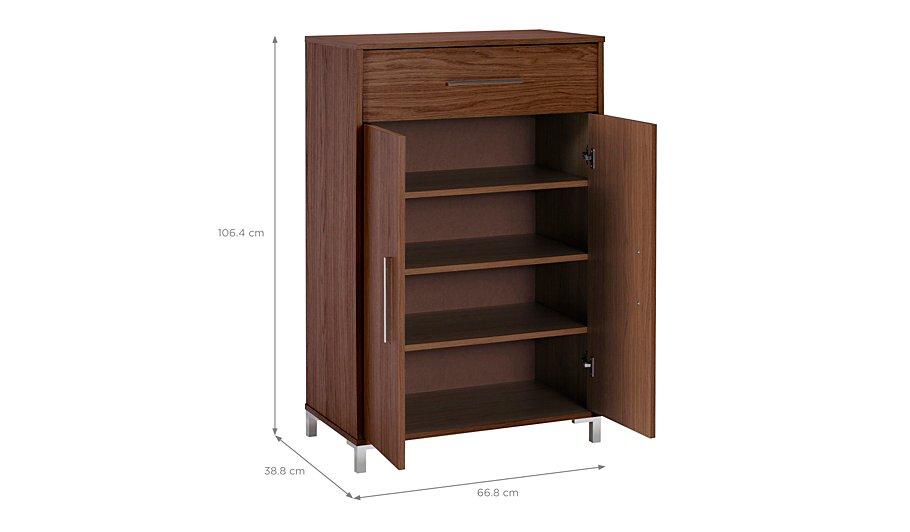 kaitlin shoe storage walnut effect furniture george. Black Bedroom Furniture Sets. Home Design Ideas