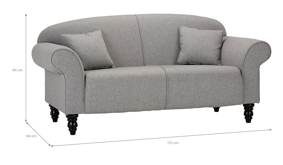 George Home Elliott Compact Sofa in Fine Velvet | Home & Garden | George at ASDA