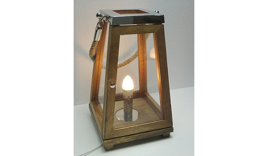 George home large wood lantern lamp home garden for Wooden garden lanterns