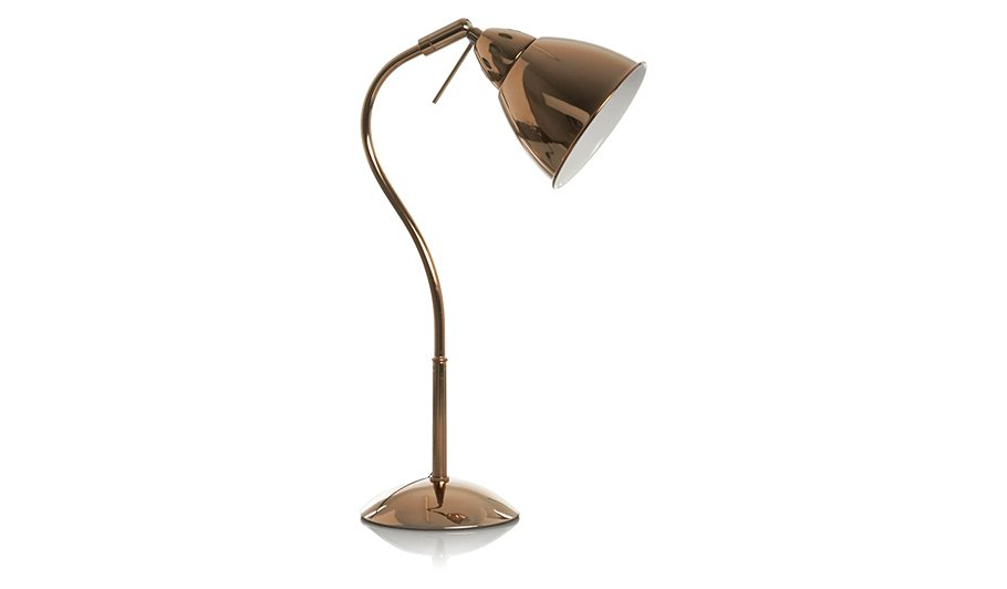 modern bronze copper rose gold side table desk office lamp. Black Bedroom Furniture Sets. Home Design Ideas