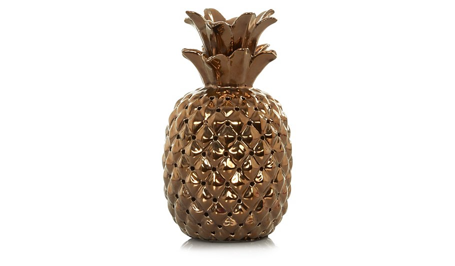 george home copper effect pineapple table lamp home. Black Bedroom Furniture Sets. Home Design Ideas