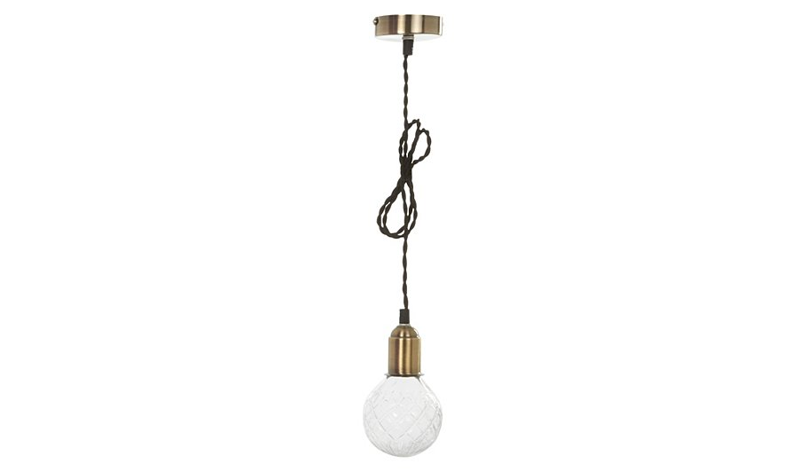 George home cut glass cage ceiling light fitting home garden george at asda