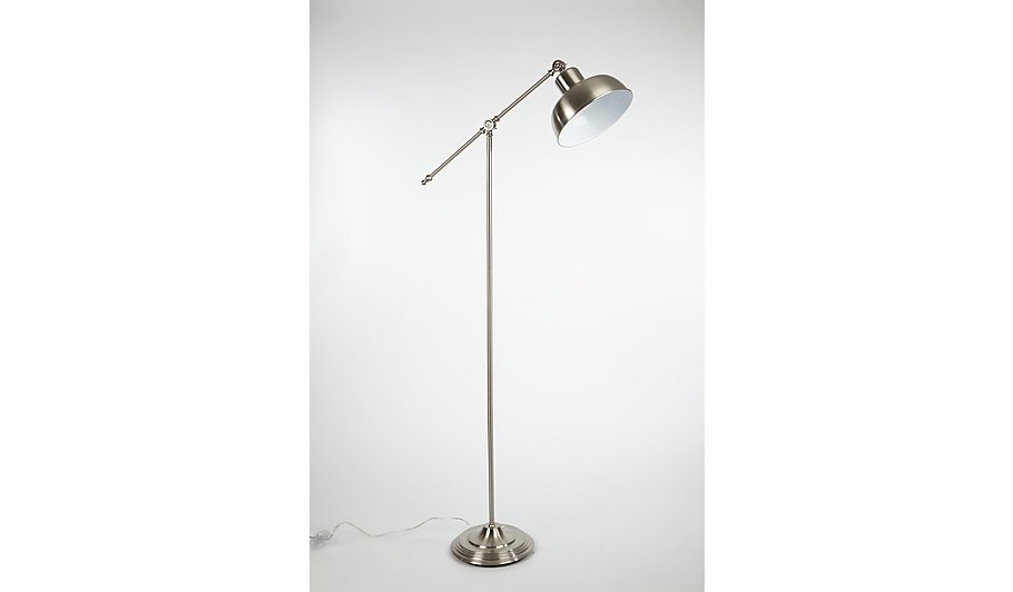 George home brushed chrome spotlight floor lamp home garden george home brushed chrome spotlight floor lamp home garden george at asda aloadofball Gallery