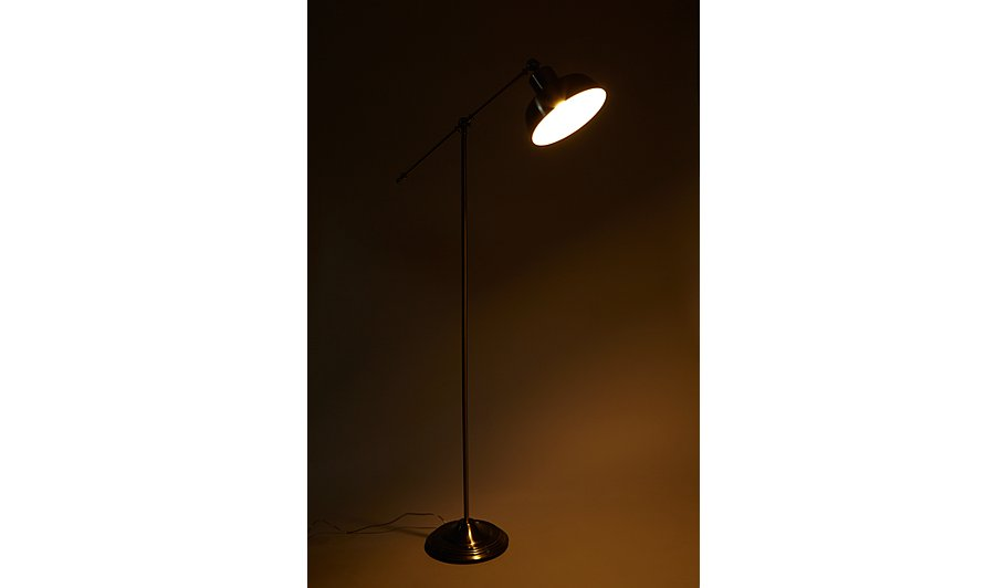 George Home Brushed Chrome Spotlight Floor Lamp